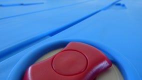 Rood, tan, en blauwe cirkel en lijnen stock afbeelding