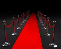 Rood tapijt stock illustratie