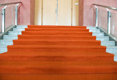 Rood tapijt Stock Foto