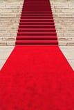 Rood tapijt Royalty-vrije Stock Fotografie