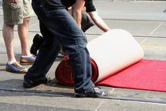 Rood tapijt Royalty-vrije Stock Foto's