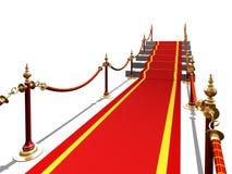 Rood tapijt aan trede stock illustratie