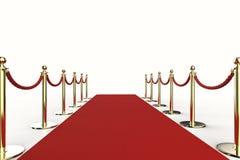 Rood tapijt met kabelbarrière Royalty-vrije Stock Fotografie