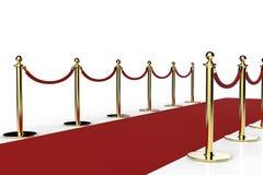 Rood tapijt met kabelbarrière Royalty-vrije Stock Afbeeldingen