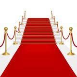 Rood tapijt met ladder vector illustratie
