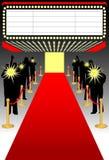 Rood tapijt premier/ai Stock Afbeeldingen