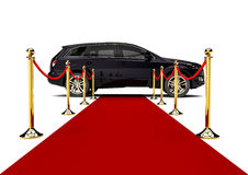 Rood tapijt SUV Stock Foto