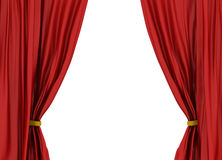 Rood theatergordijn Royalty-vrije Stock Foto