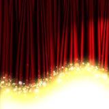 Rood theatergordijn Stock Afbeeldingen
