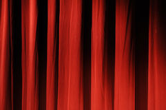 Rood theatergordijn Royalty-vrije Stock Afbeeldingen