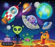 Rood thema 1 van de planeetfantasie royalty-vrije illustratie