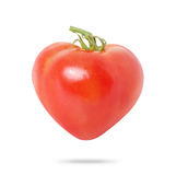 Rood tomatenHart Royalty-vrije Stock Afbeeldingen