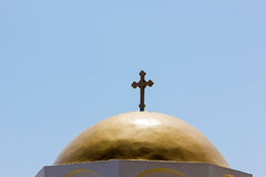 Rood top of a church with cross Royalty Free Stock Photography