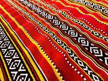 Rood Traditioneel Tapijt royalty-vrije stock afbeelding