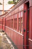 Rood treinvervoer Royalty-vrije Stock Fotografie