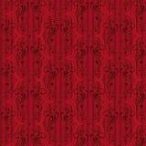 Rood Uitstekend Naadloos Patroon Stock Afbeelding