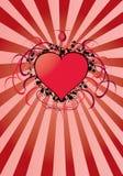 Rood valentijnskaartenhart Stock Afbeelding