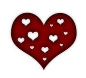 Rood valentijnskaarthart Royalty-vrije Stock Fotografie