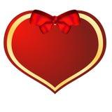 Rood valentijnskaarthart Stock Foto's