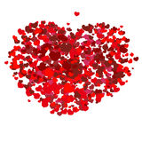 Rood valentijnskaarthart stock foto
