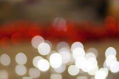 Rood van bokeh Abstract Kerstmis behang als achtergrond Stock Afbeeldingen