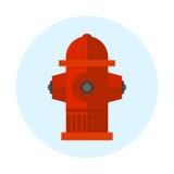 Rood van de het metaaldruk van de brandkraan vectorillustratie van de de preventiestraat van het de slangwater de noodsituatiemat Royalty-vrije Stock Foto
