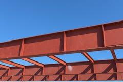 Rood van staalstructuur Stock Foto's