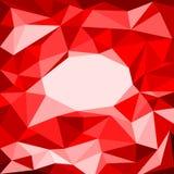 Rood veelhoekmozaïek als achtergrond Stock Afbeeldingen