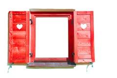 Rood venster. stock foto's