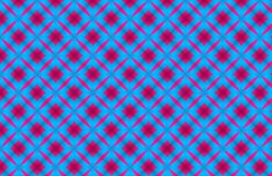 Rood Vierkant die Geometrisch Blauw Patroonontwerp herhalen vector illustratie