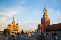Rood Vierkant, het centrale gebied in Moskou stock afbeelding
