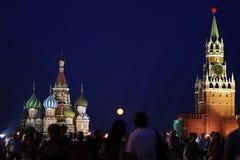 Rood Vierkant in Moskou Stock Fotografie