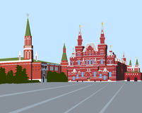Rood Vierkant Moskou vector illustratie