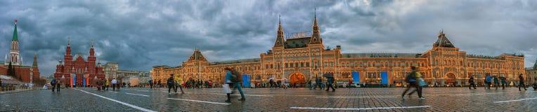 Rood Vierkant in Moskou HoofdWarenhuisgom Rusland Royalty-vrije Stock Afbeelding