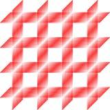 Rood vierkant patroon, naadloze tegel, vector Stock Foto