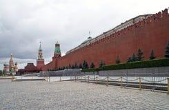 Rood Vierkant in Russisch hoofdmoskou Stock Foto's