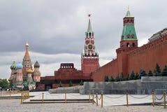 Rood Vierkant in Russisch hoofdmoskou Stock Afbeelding