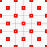 Rood vierkantenpatroon stock illustratie