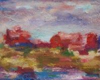 Rood-violette abstractie Stock Fotografie