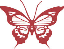 Rood Vlinder Vectoreps Ontwerp Stock Afbeeldingen