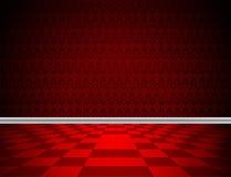 Rood vloer, behang en het vormen Royalty-vrije Stock Foto