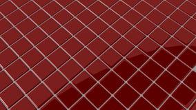 Rood vlot mozaïek met ronde schaduw Stock Afbeelding
