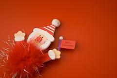 Rood Vrolijk Kerstmisstuk speelgoed 18 Stock Fotografie