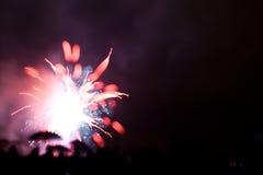 Rood vuurwerk Royalty-vrije Stock Afbeelding