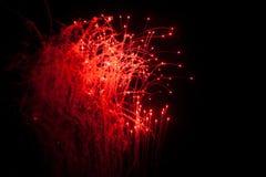 Rood vuurwerk Stock Foto