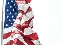 Rood Wit en Blauw die Democratie vertegenwoordigen stock fotografie