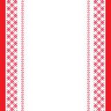 Rood-wit geborduurde achtergrond Royalty-vrije Stock Foto's