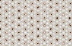 Rood Wit Geometrisch Hexagon Patroonontwerp royalty-vrije illustratie