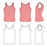 Rood-wit gestreept vest vector illustratie