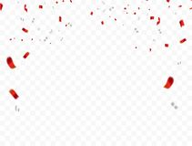 Rood Wit ontwerp 2019, confettienconcept 17 August Happy Independence Day-groetachtergrond viering vector illustratie